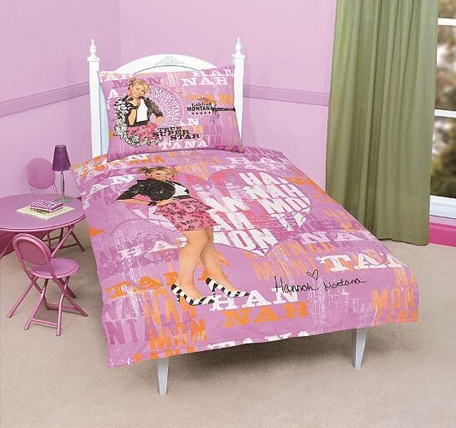 Pre tennegery kvalitné bavlnené posteľné obliečky Hannah Montana Disney, Jerry Fabrics