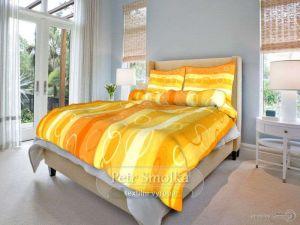 Krepové obliečky Kolesá oranžové