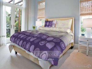 Bavlnené obliečky Silva lila