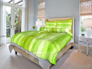 Bavlnené obliečky Kolesá zelené