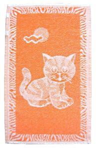 Detský uterák - Mačiatko oranžové