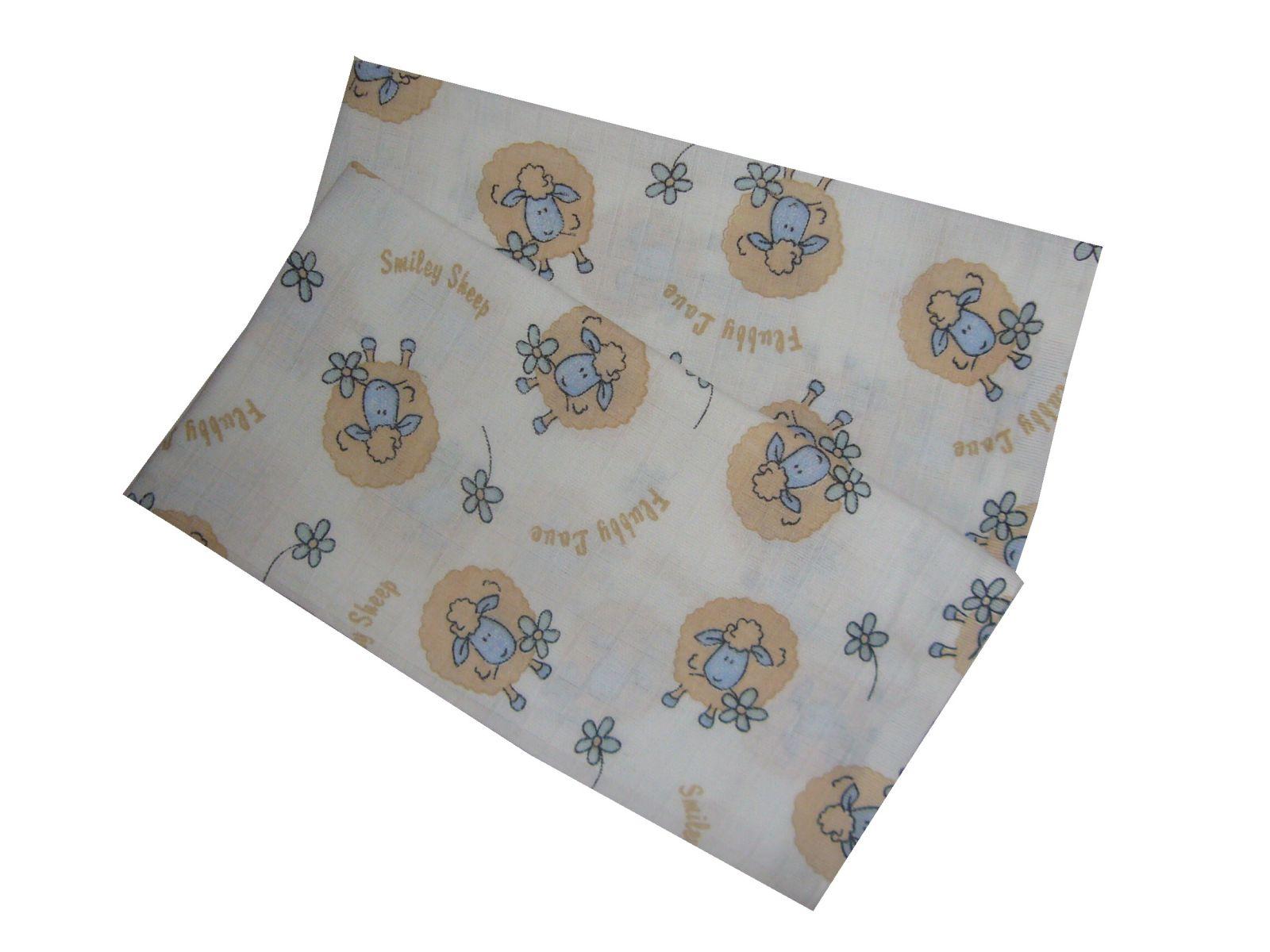 S obrázkom ovečiek kvalitné detské látkové plienky Ovečky modré (balenie 5 ks), PREM INTERNACIONAL