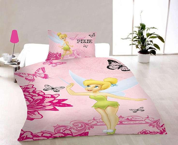 Dětské bavlněné ložní povlečení Disney - Pixie Pink