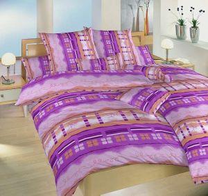 Flanelové obliečky Štvorlístok fialový