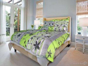 Bavlnené obliečky Liana zelená