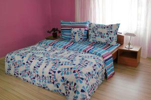 Bavlnené obliečky Draci pruhy modré