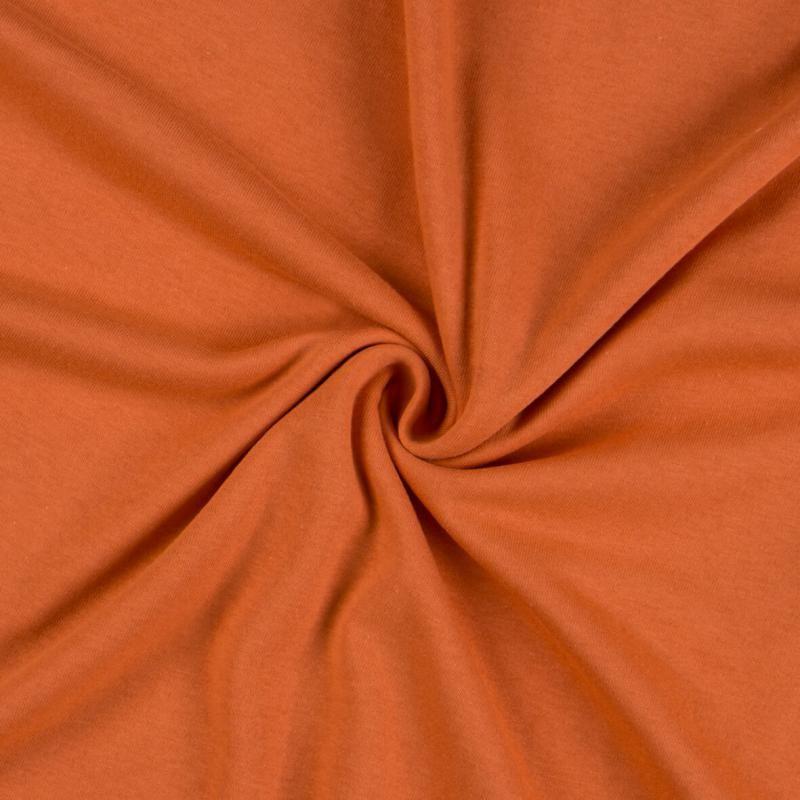 Jersey prostěradlo terakota