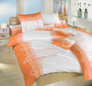 Bavlnené obliečky Smyčky oranžové