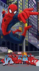 U detí obľúbený pavúči muž na detskej osuške Spiderman 2015 - 75x150 cm Jerry Fabrics