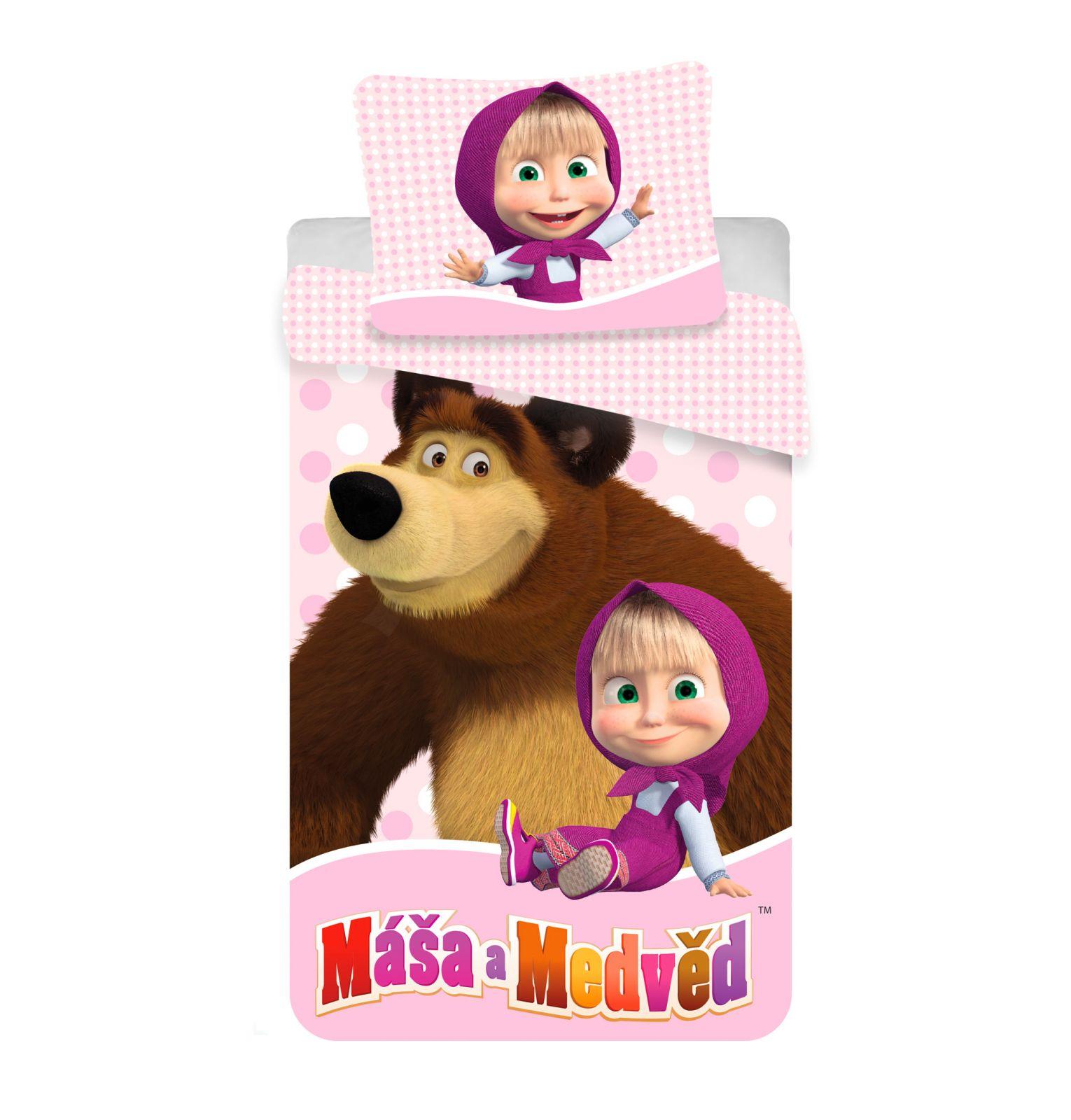 Dětské bavlněné ložní povlečení Máša a Medvěd 02