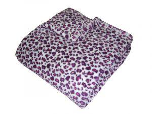 Motív mačkovitej šelmy na kvalitnej super soft deke - Gepard fialový, Dadka