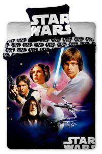 Postavy z televízneho seriálu Hviezdnych vojen na bavlnených posteľných obliečkach Star Wars 01 Jerry Fabrics