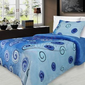 Mikroflanelové obliečky Slimák modrý