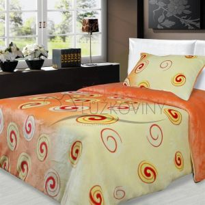 Mikroflanelové obliečky Slimák oranžový