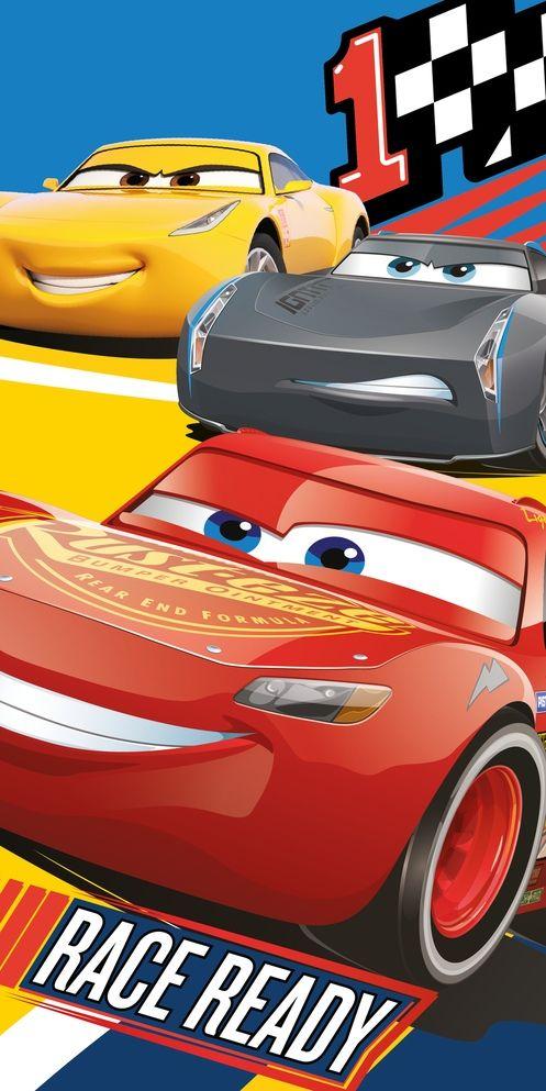 """Detská bavlnená plážová osuška Cars 3 """"Race ready"""", Jerry Fabrics"""