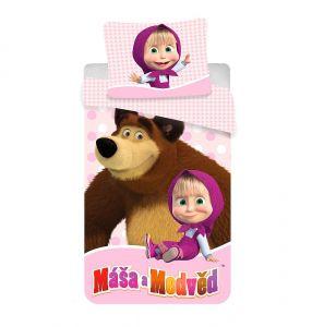 Obojstranné detské bavlnené posteľné obliečky Máša a Medveď 02, Jerry Fabrics