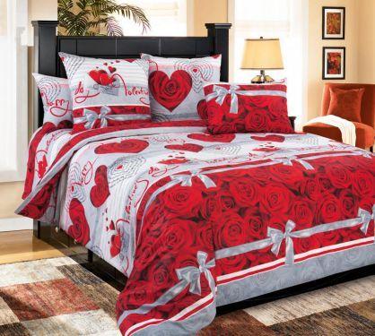 Bavlněné ložní povlečení Valentýn