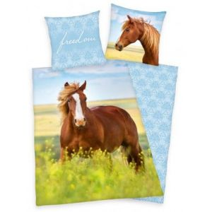 Bavlnené obliečky Kôň, freedom