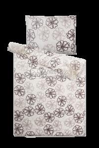 Mikroflanelové obliečky Sleep Well Kvetiny šedej