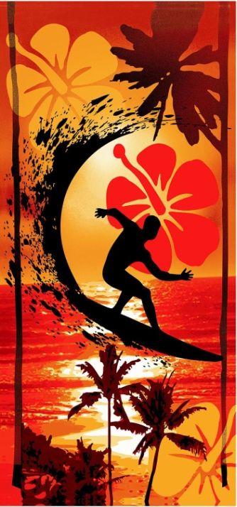 Plážová osuška Surfař