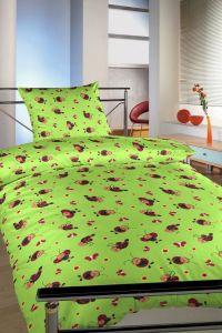 Kvalitné detské krepové posteľné obliečky Lienky zelené, Dadka