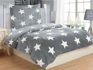 Mikroflanelové obliečky Stars grey