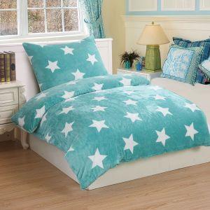 Mikroflanelové obliečky Stars mint