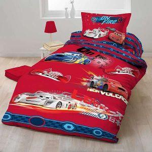 Bavlnené obliečky Cars 2012 červený