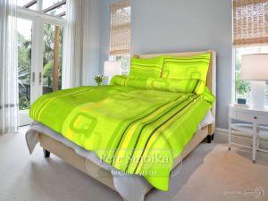 Krepové obliečky Tonda zelený
