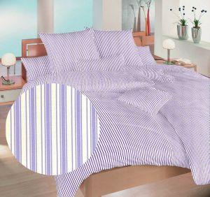 Bavlnené obliečky Prúžky fialové