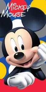 S postavičkou myšiaka kvalitnou plážová detská osuška Mickey dots, Jerry Fabrics