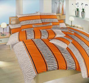 Bavlnené obliečky Safari oranžové