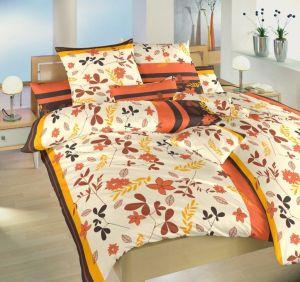 Jesenný motív na krepových posteľných obliečkach Lístie oranžové, Dadka