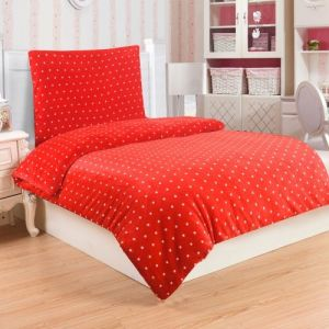 Mikroflanelové obliečky Polka red