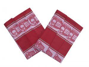 Utierka Bavlna Extra savá Čajová súprava červená - 3 ks