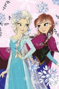 Detská fleecová deka Frozen pastel