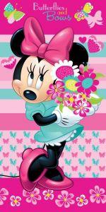 Detská fleecová deka Minnie kvety