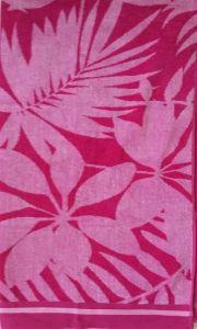 Plážová osuška Kvety ružové 100x180 cm