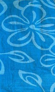 Plážová osuška Kvety tyrkysové 100x180 cm