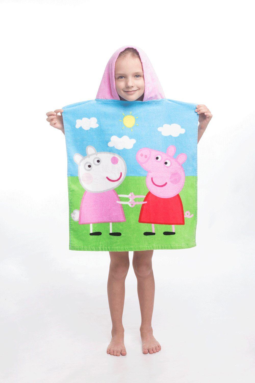 d065b2ab7 S motívom ružového prasiatka kvalitné detská plážová osuška Peppa Pig 009,  Jerry Fabrics