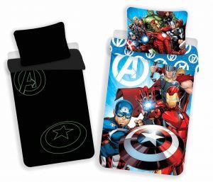 Bavlnené obliečky Avengers svietiaci efekt