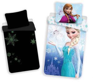 Bavlnené obliečky Frozen 02 svietiaci efekt