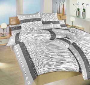 Kvalitné krepové posteľné obliečky Fata morgána šedá, Dadka