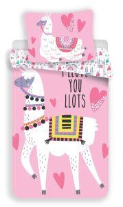Bavlnené obliečky Llama pink