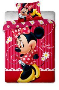 Nádherné kvalitné bavlnené posteľnéobliečky Disney - Minnie stripe 2015, Jerry Fabrics