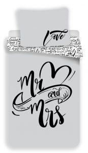 Bavlnené obliečky Mr and Mrs