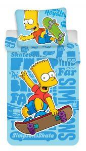 Bavlnené obliečky Simpsons Bart blue 02