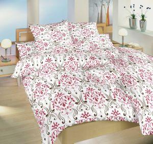 Bavlnené posteľné obliečky s tapetovým vzorom Klenotnica vínová, Dadka