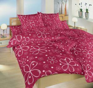 Kvetinový motív na kvalitnom bavlnenom posteľných obliečkach Pětilístek biely, Dadka