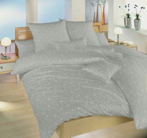 Jemné kvietky na damaškových posteľných obliečkach Lúčne kvety šedé, Dadka